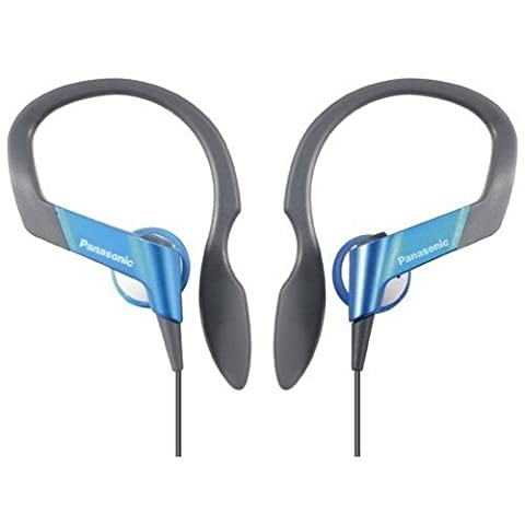 Panasonic RP-HS33E-A Water resistant Sports Clip In Ear Headphone- Blue