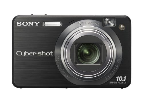 Sony Cybershot DSCW-170B Digitalkamera (10 Megapixel, 5-fach opt. Zoom, 6,9 cm (2,7 Zoll) Display) schwarz 10,1 Mp 2,7