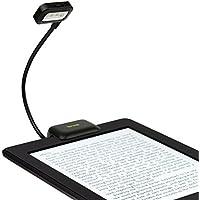 iKross Nero Dual LED clip-on luce da lettura per lettori di eBook, compresse, palmari, telefoni cellulari