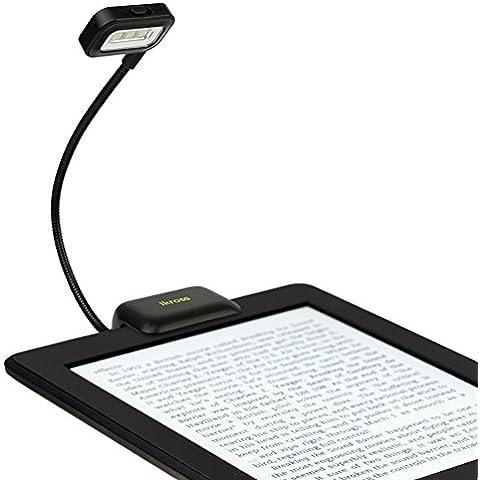 iKross LED Luz Clip, LED Lámpara, Luces de Lectura, portátil de cuello flexible para tabletas, libros electrónicos, libros, ordenadores portátiles y más