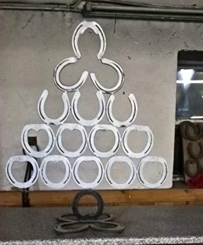 Baum, Hufeisen - Baum, Weihnachten, Advent, Glücksbaum, Dekoration, Handmade, geschmiedet, Weihnachtsbaum (Dekorationen Baum Weihnachten)