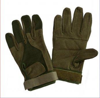 Paintball Handschuhe - Vollfinger - oliv - Wildleder Größe L