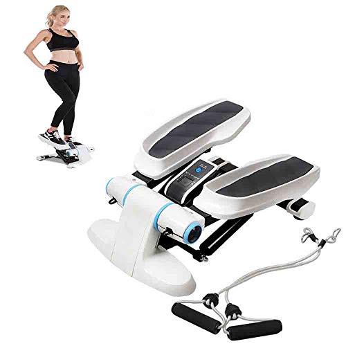 WXH Mini Fitness Twist Stepper, mit Widerstandsbändern, Laufband und bequemen Fußpedalen, langlebiger Tresor, Trainingsgerät und Step-Trainer-Ausrüstung