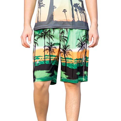 �nner Hawaiian Beach Boho Style Herren Kurze Hose Schnell Trocknend Surfen Laufen Schwimmen Druck Medium Lose Lässige Hose ()