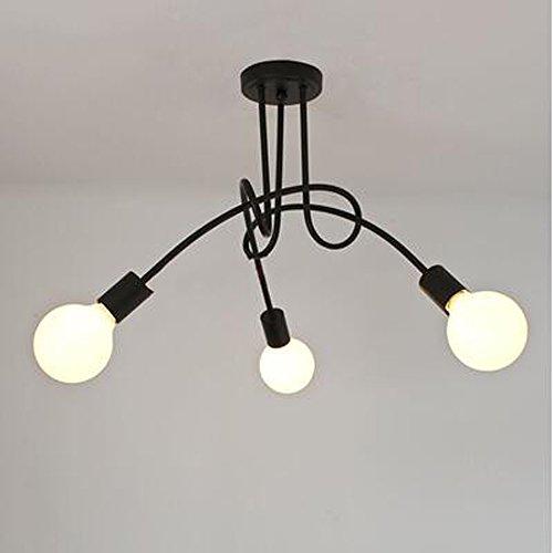 DPG Lighting Vintage Lámparas de techo Iluminación de techo Negro Pe