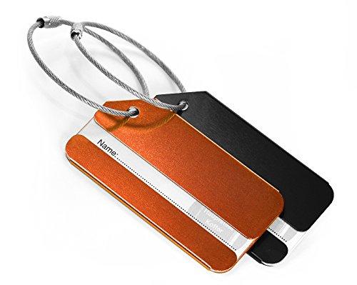 Hauptstadtkoffer - Etiqueta para equipaje , negro / naranja (Varios colores) - HK-KA-ALU-B-O