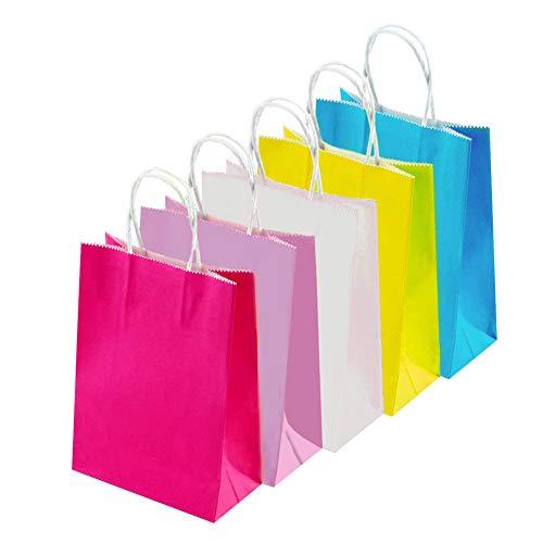 INTVN Papier Geschenktüten, 25 Stück Geschenk Papiertüten EINTVN Paper Gift Bags - 25 Pieces Gift Paper Bags Grocery Bags Craft Paper Bags - Gift Paper Bags - Easy to Carry Packs of Cookies, Grocery