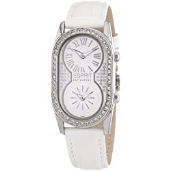 Esprit Collection Women's Quartz Watch with White Dial and White Leather Strap EL101192F02