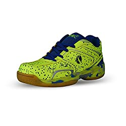 Feroc Green Marble Unisex Badminton Shoes (FREE Delivery) (7, Green)