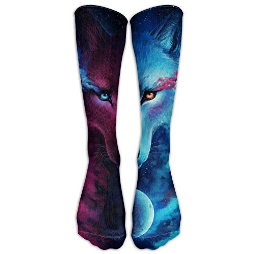 Jxrodekz Animal Wolf Unisex Colorful Pattern Crew Socks Men & Women Running Socks for Boys and Girls