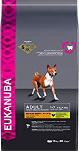 Eukanuba Dry Dog Food Adult with Medium Breed Chicken, 15 kg