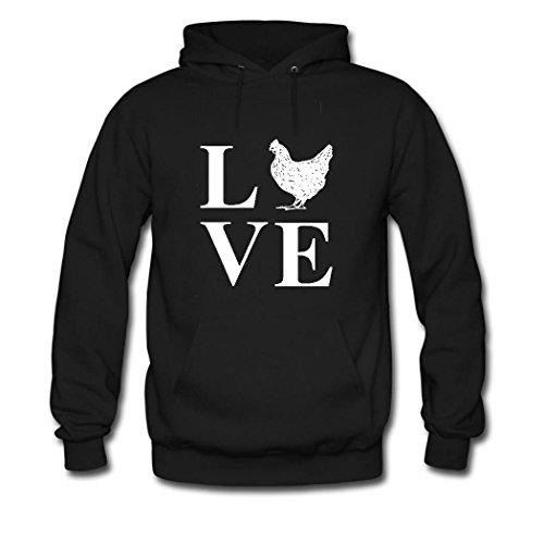 HKdiy Love Chicken Custom Classic Men Hoodie Black-1