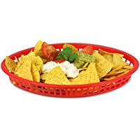 Tablecraft Texas Oval Platter Basket Red 32x24x4cm | Plastic Basket,