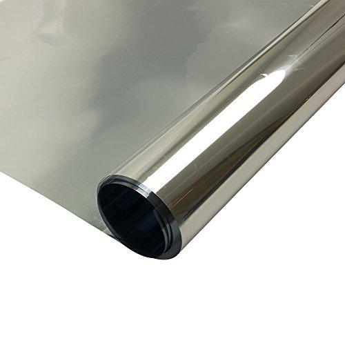 HOHOFILM 19.6'x39.3' - Protector de privacidad para Ventanas de Espejo de una vía, Color Plateado