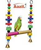 Azil Multi Color Hanging Parrot - Birds Swing Toy (Medium)