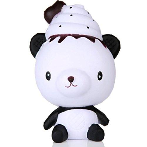 pielzeug, mamum Exquisite Fun F Poo Panda Duft Squishy Charm Slow Rising 13cm Simulation Spielzeug (Baby Fußabdruck Cutter)