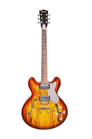 Schöne Hohe Qualität Vancouver von Quincy Jazz Stil Einfassung um die Top und Rückenteil Sunburst Ahorn Decke aus gestocktem Ahorn Hals aus Ahorn 6Saiten 335Form Semi Hollow 628mm Mensur E-Gitarre Einzigartige Modell ZX3Silber Wrap