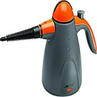 Clatronic DR 3535 - Vaporeta limpiador al vapor de mano, 9 accesorios, 1000 W, color gris y naranja