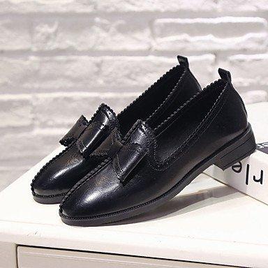 zhENfu Donna sandali di gomma Comfort estate passeggiate allaperto Comfort Bowknot tacco basso Verde Giallo Nero sotto 1in Black