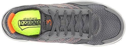 Skechers Herren Go Walk 3 Low-Top Charcoal/Orange