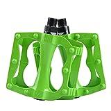 Skyrocket Pedale Della Bicicletta Alluminio Lega 9/16 ' Filettatura Cuscinetto a Sfera Pedali Accessori Bici MTB BMX(Verde)