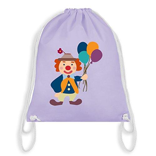 Shirtracer Karneval & Fasching - Clown Luftballons - Unisize - Pastell Lila - WM110 - Turnbeutel & Gym Bag