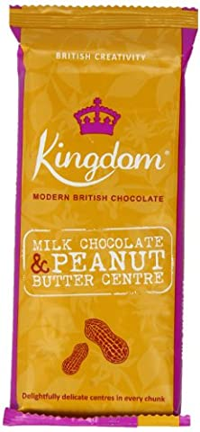 Kingdom Milk Chocolate and Peanut Butter Centre Chocolate Bar 100 g (Pack of 5)
