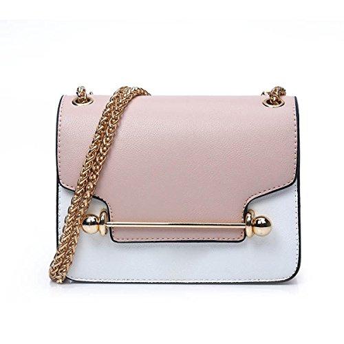 Borsa A Tracolla Della Borsa Della Borsa Catena Di Moda Bag Messenger,Blue Pink