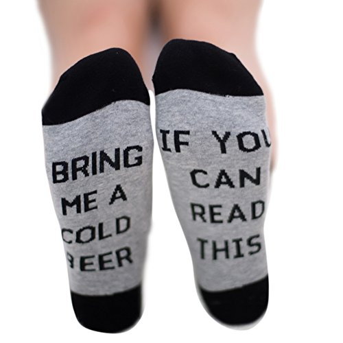 Qlan If You can read this Bring Me a Glass of Wine/Coffee/Beer Letter embroidered Cotton In The Tube Socks Men Women Socks