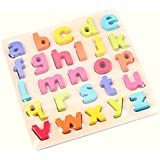 SuperToy(TM) Wooden Alphabet Puzzle Small Letters (Multi Color)