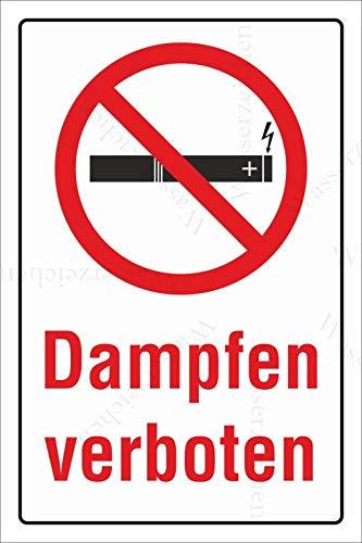 Sticker-Designs 10cm!2Stück!Aufkleber-Folie Wetterfest Made IN Germany E-Zigaretten Dampfen verboten S764 UV&Waschanlagenfest-Auto-Vinyl-Sticker Decal Profi Qualität bunt farbig DigitalSchnitt