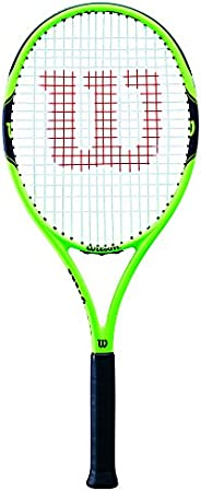 Wilson Unisex Adult 2-WRT30040U2 Milos 100 Tennis Racket Without Cover - Green/Black, Grip 2