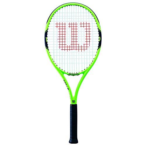 WILSON Milos 100, WRT30040U3 Racchetta da Tennis per Giocatori Principianti e Amatoriali Unisex Adulto, Verde/Nero, L3