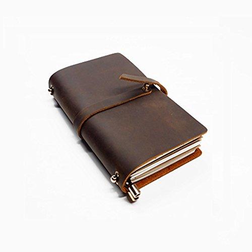Taccuino Vendemmia - Pelle Journal Taccuino Ricaricabile Foderato Carta di a Mano - Latteria Vendemmia Regalo Personalizzato - Taccuino per il Viaggiatore Unico (14 * 10cm)