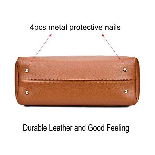 2 Pcs Signora Handbag Spalla Cartella Borsa Bag Mufly