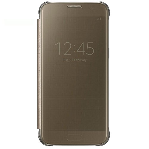 Samsung clear view cover per galaxy s7, oro