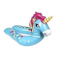 PMS International Unicorn inflatable swim float ring pool beach toy