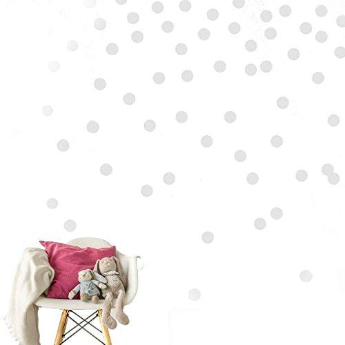 Fighting 5pcs entfernbare Wand Aufkleber Dots Matte Tupfen-Dekor-Runde Kreis-Kunst-Aufkleber Großes Papierblatt Set