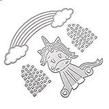 Guangtian Metall Stanzschablonen Stanzformen Silber Regenbogen für DIY Scrapbooking Album, Schneiden Schablonen Papier Karten Sammelalbum Deko