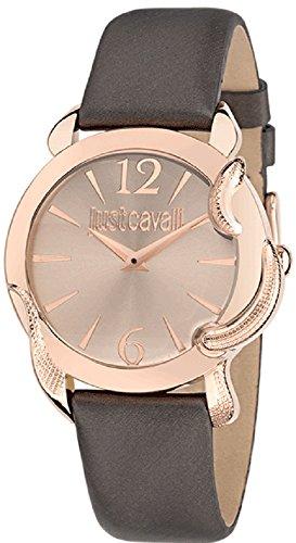 Roberto Cavalli r7251576501 - Orologio da polso, donna, pelle, colore: marrone