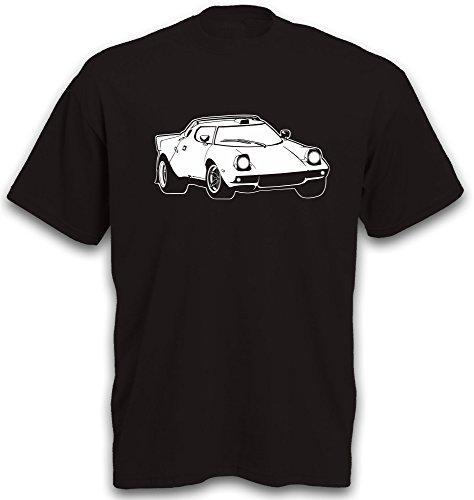 T-Shirt Stratos HF Rallye Motorsport Rennwagen Youngtimer Oldtimer tshirt b&c S-XXL Schwarz