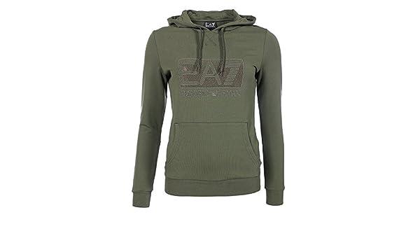 bf6c79924614 Armani EA7 Femme - Pull   Sweatshirt Kaki Armani EA7 6XTM92 TJ24Z - Taille  vêtements - L  Amazon.fr  Vêtements et accessoires