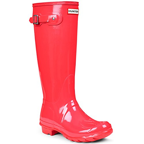 Hunter Original Tall Gloss W23616 Damen Gummistiefel Hellen Korallen