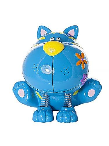 Salvadanaio gatto blu azzurro regali per bambini e adulti