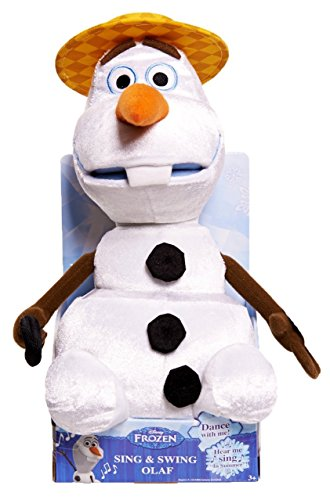 Disney Frozen Toy - Sing and Swing 12 Inch Olaf Plush - Electronic Singing and Dancing