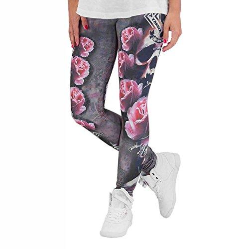 Yakuza Femme Pantalons & Shorts / Leggings Rose Skull Multicolore - Multicolore