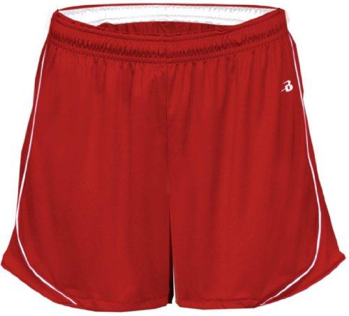 Badger - Short de sport - Femme Rouge - Rouge/blanc