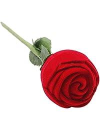 Caja de almacenamiento con Compatible Conma de rosa roja joyliveCY para anillo de compromiso, pendientes, colgantes o recuerdos