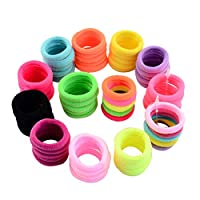 Vaycally Hair Bands Scrunchy Hair Ties Ropes Scrunchie,50Pcs Women Girls Hair Band Ties Rope Ring Elastic Hairband Ponytail Holder New pink 11 for Girls Toddlers Kids Women
