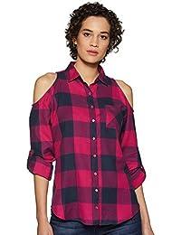 Amazon Brand - Inkast Denim Co. Women's Checkered Loose fit Shirt